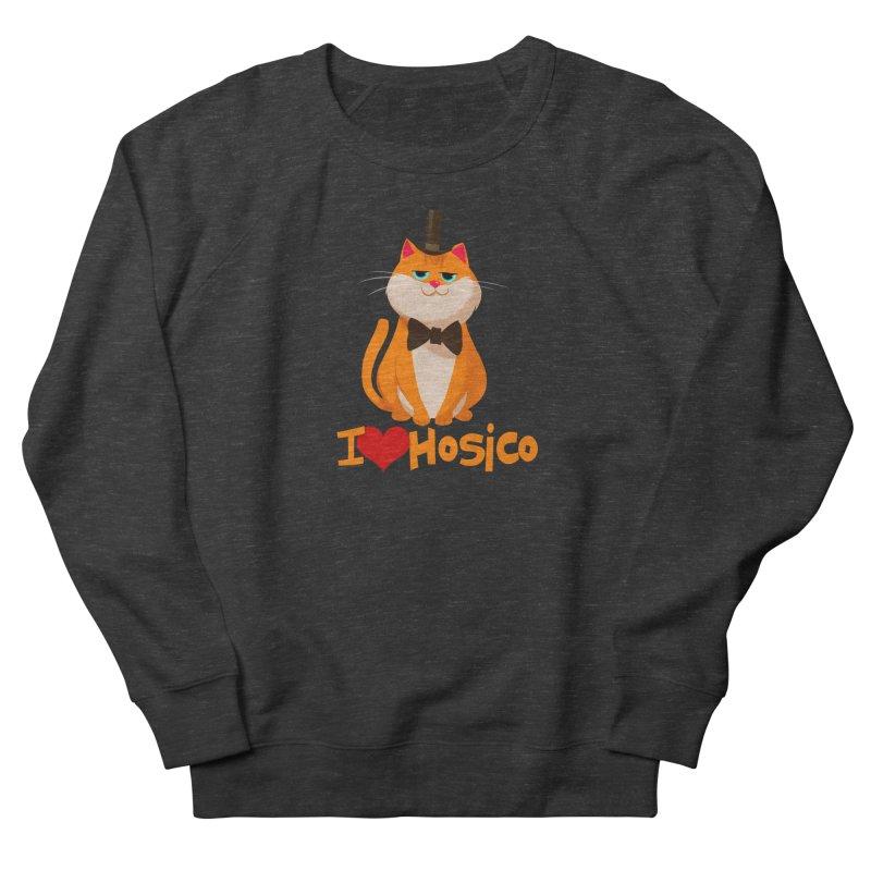I Love Hosico Men's Sweatshirt by Hosico's Artist Shop