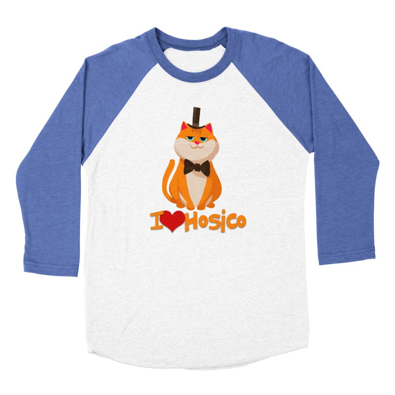 I Love Hosico Women's Baseball Triblend T-Shirt by Hosico's Artist Shop