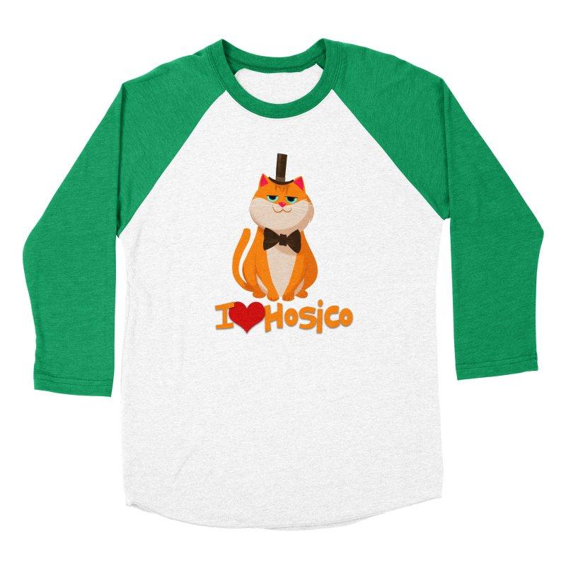 I Love Hosico Women's Baseball Triblend T-Shirt by Hosico's Artist Shop