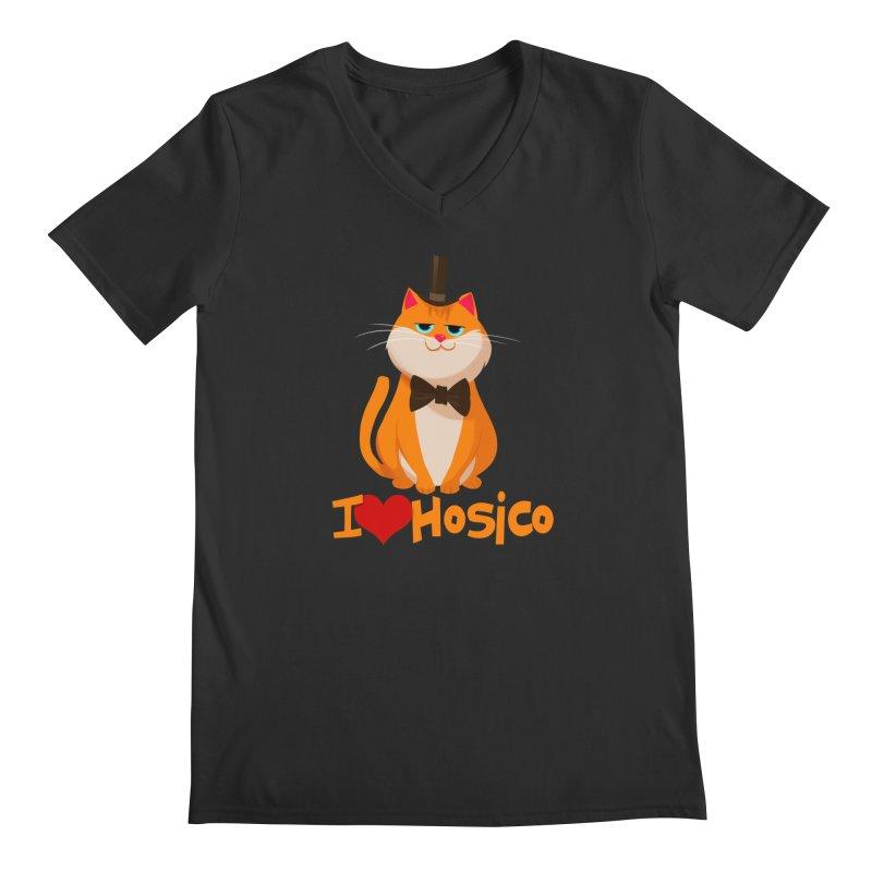 I Love Hosico Men's V-Neck by Hosico's Artist Shop