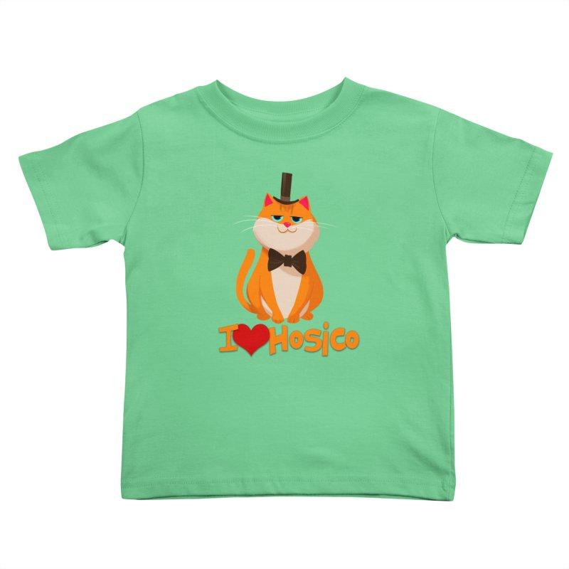 I Love Hosico Kids Toddler T-Shirt by Hosico's Artist Shop