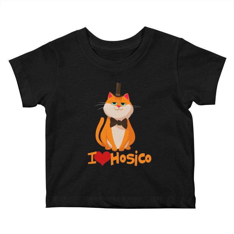 I Love Hosico Kids Baby T-Shirt by Hosico's Artist Shop