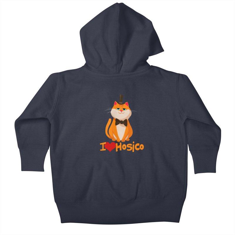 I Love Hosico Kids Baby Zip-Up Hoody by Hosico's Artist Shop