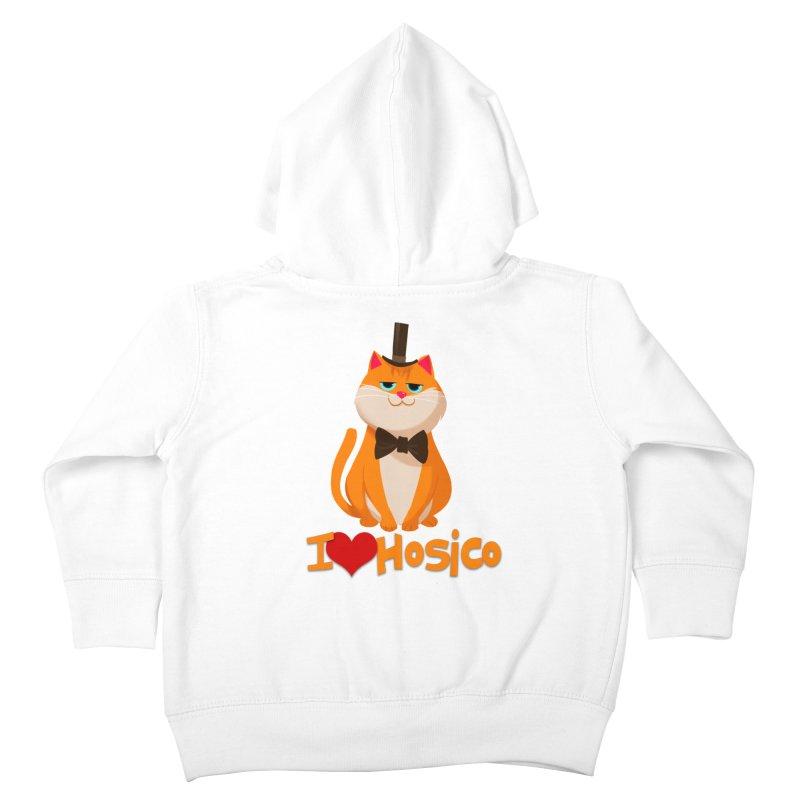 I Love Hosico Kids Toddler Zip-Up Hoody by Hosico's Artist Shop