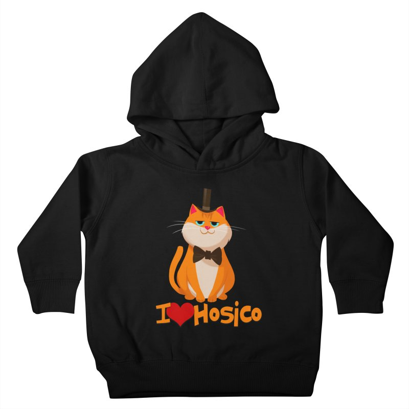 I Love Hosico Kids Toddler Pullover Hoody by Hosico's Artist Shop
