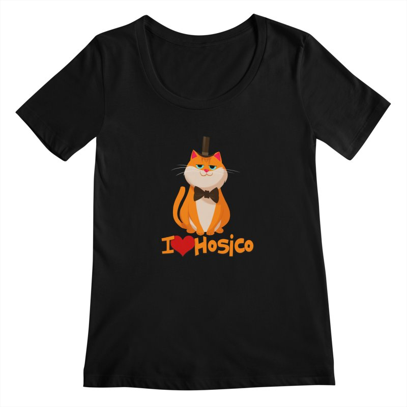 I Love Hosico Women's Scoopneck by Hosico's Artist Shop