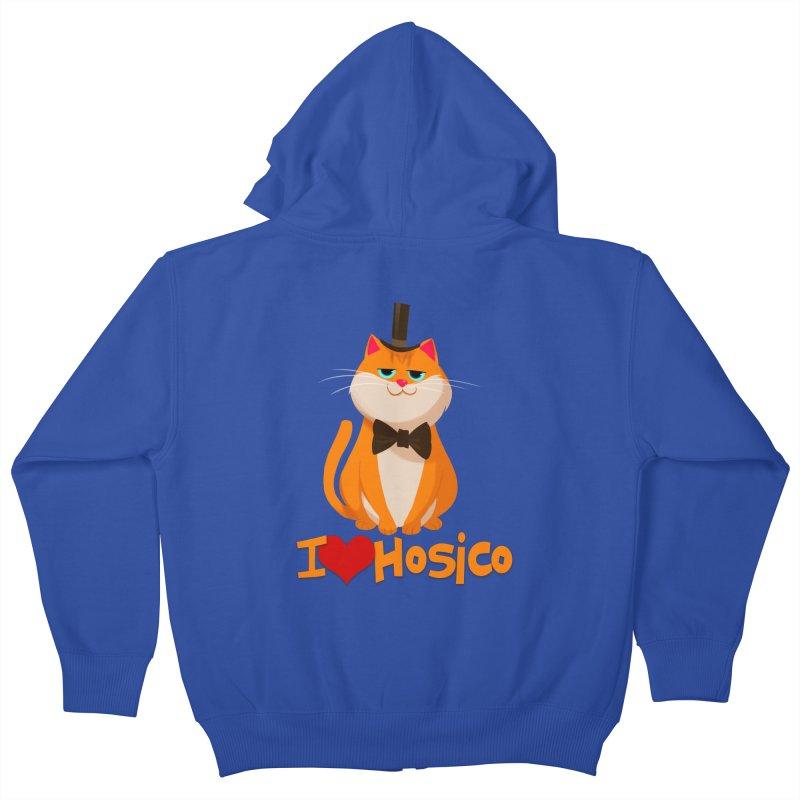 I Love Hosico Kids Zip-Up Hoody by Hosico's Artist Shop