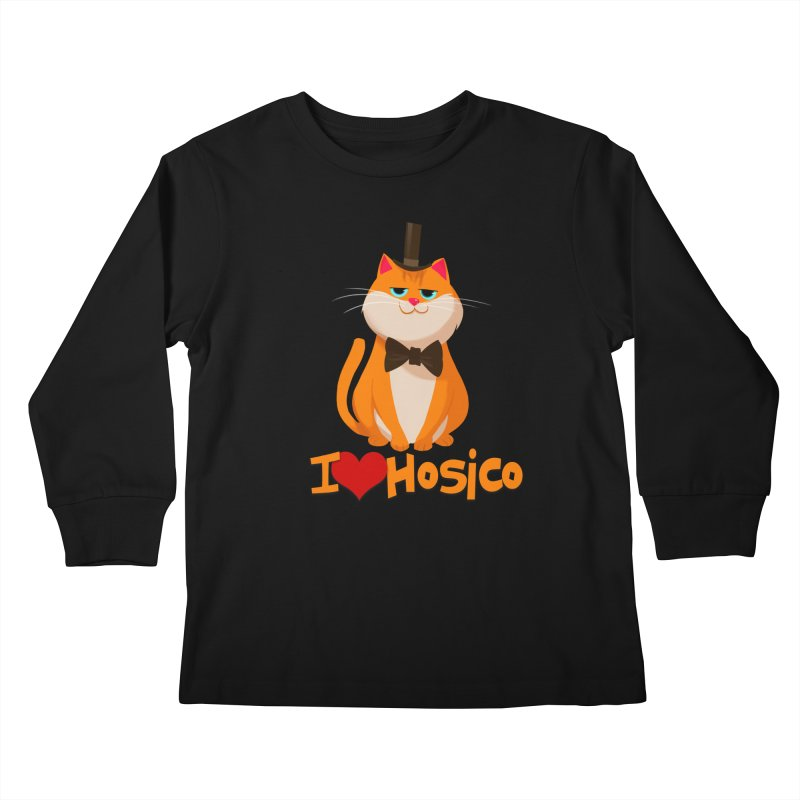 I Love Hosico Kids Longsleeve T-Shirt by Hosico's Artist Shop
