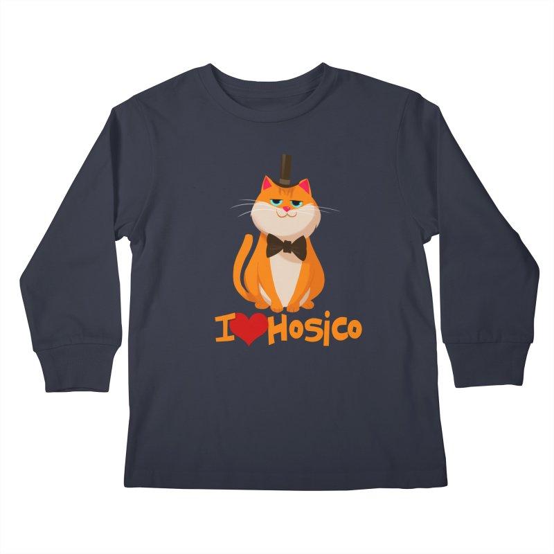 I Love Hosico Kids Longsleeve T-Shirt by Hosico's Artist Shop