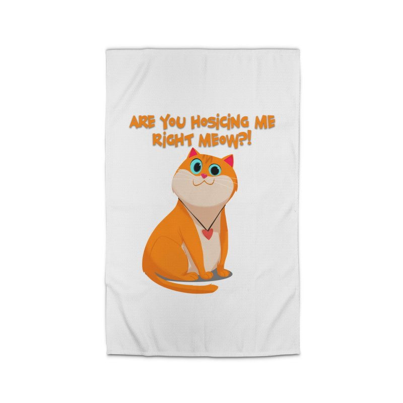 Are you Hosicing me right Meow?! Home Rug by Hosico's Artist Shop