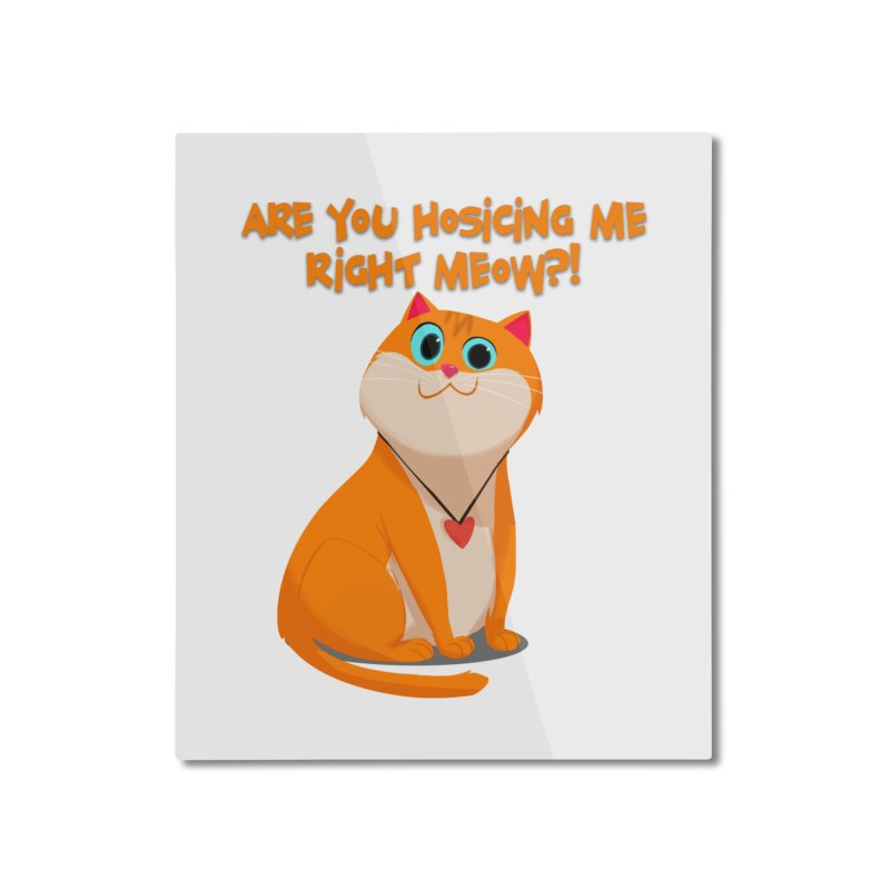 Are you Hosicing me right Meow?! Home Mounted Aluminum Print by Hosico's Artist Shop