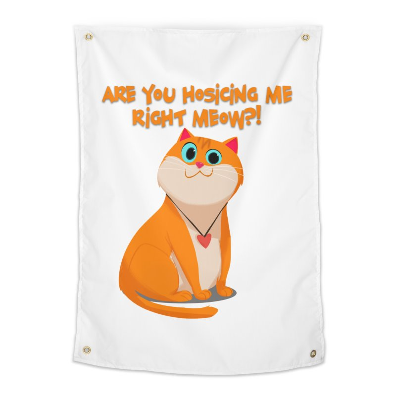 Are you Hosicing me right Meow?! Home Tapestry by Hosico's Artist Shop