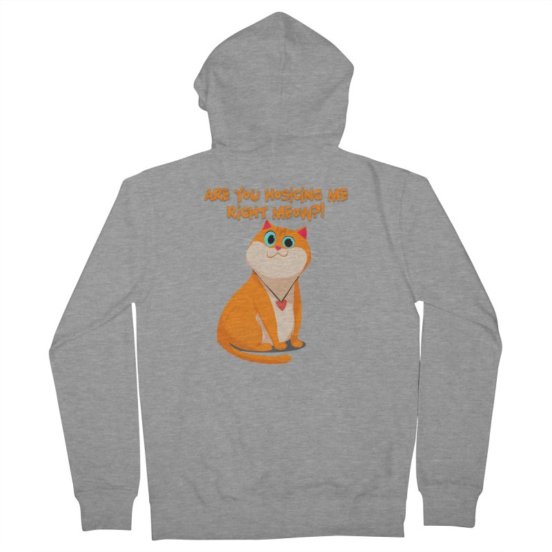 Are you Hosicing me right Meow?! Men's Zip-Up Hoody by Hosico's Artist Shop