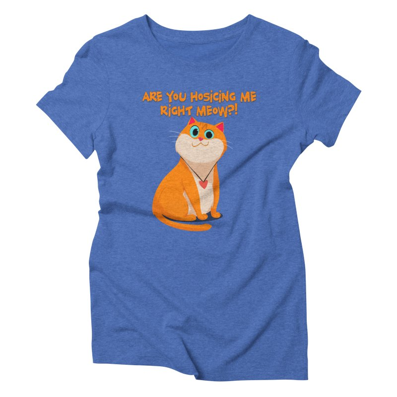 Are you Hosicing me right Meow?! Women's Triblend T-shirt by Hosico's Artist Shop