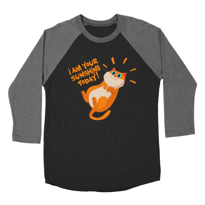 I am your Sunshine Today! Men's Baseball Triblend T-Shirt by Hosico's Artist Shop