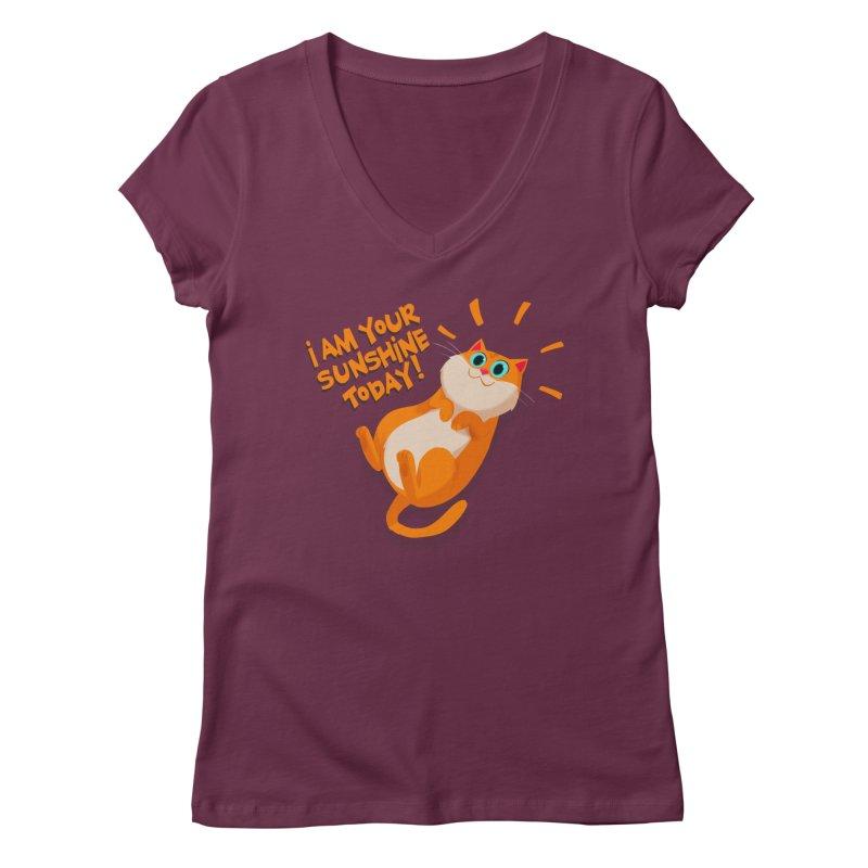 I am your Sunshine Today! Women's V-Neck by Hosico's Artist Shop