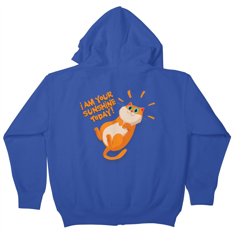 I am your Sunshine Today! Kids Zip-Up Hoody by Hosico's Artist Shop