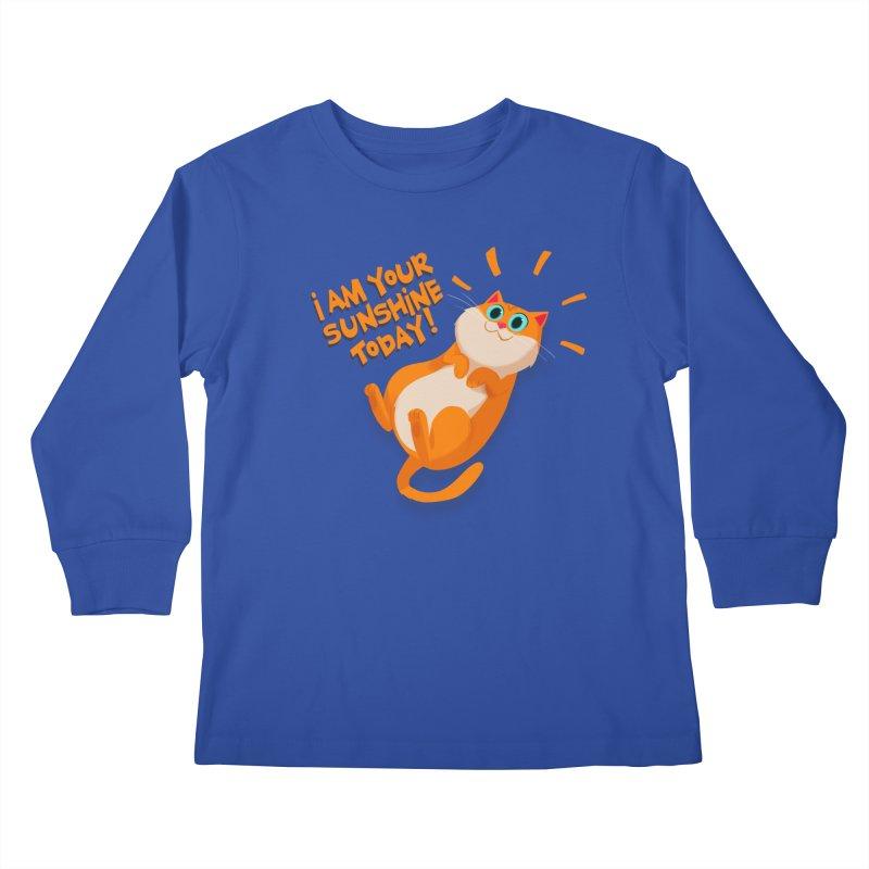 I am your Sunshine Today! Kids Longsleeve T-Shirt by Hosico's Artist Shop
