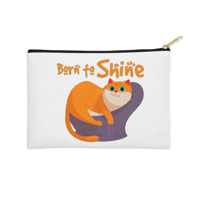 Born To Shine Accessories Zip Pouch by Hosico's Artist Shop