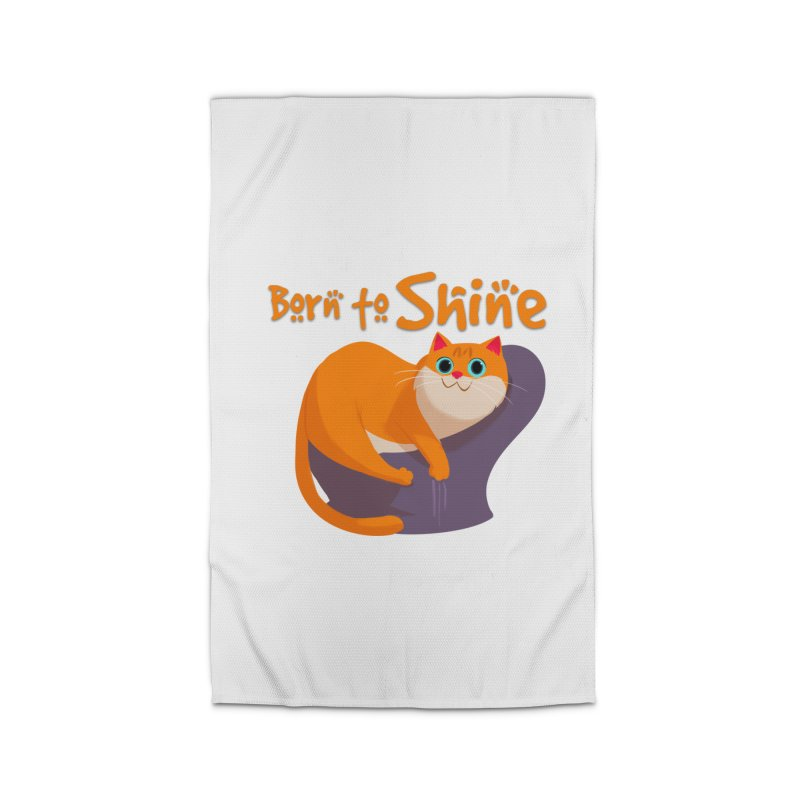 Born To Shine Home Rug by Hosico's Artist Shop