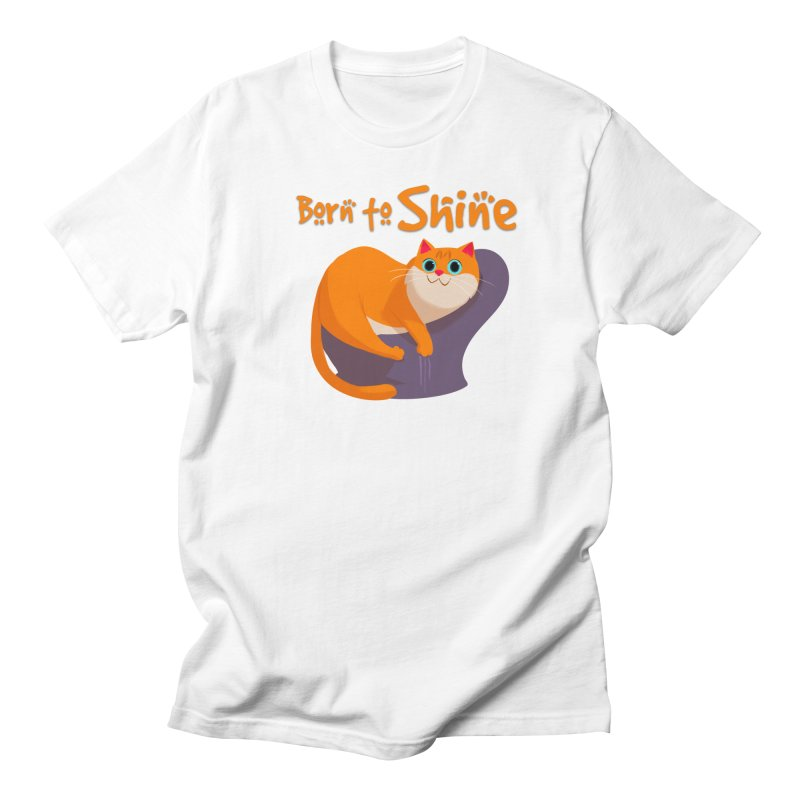 Born To Shine in Men's T-shirt White by Hosico's Artist Shop