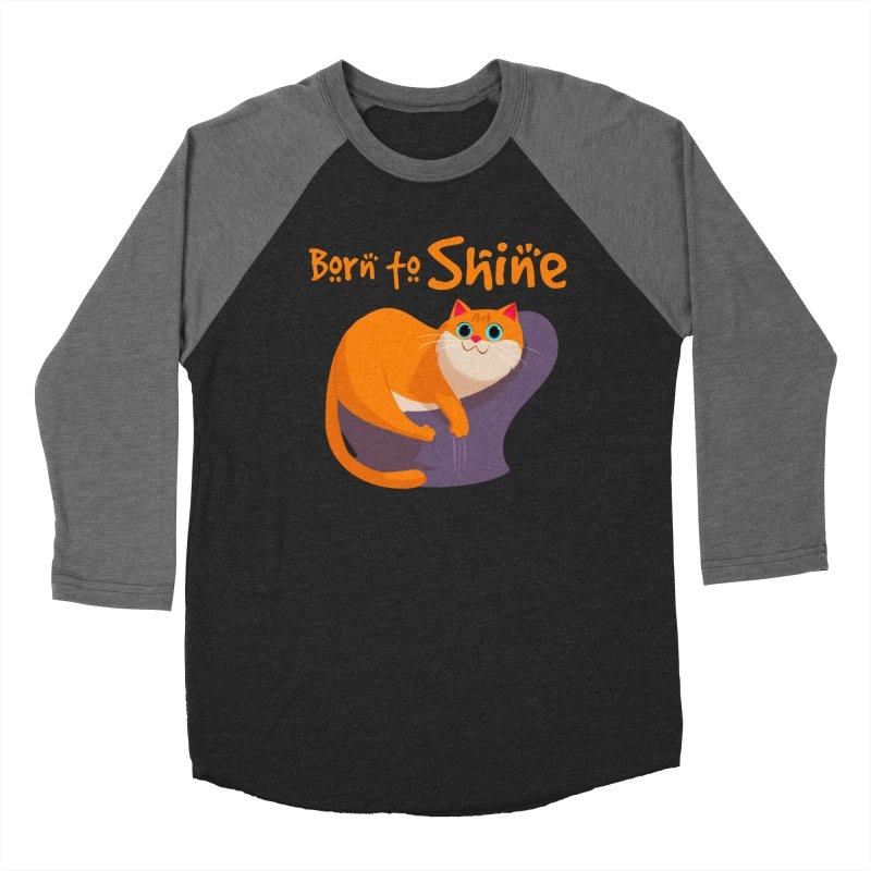 Born To Shine Men's Baseball Triblend T-Shirt by Hosico's Artist Shop
