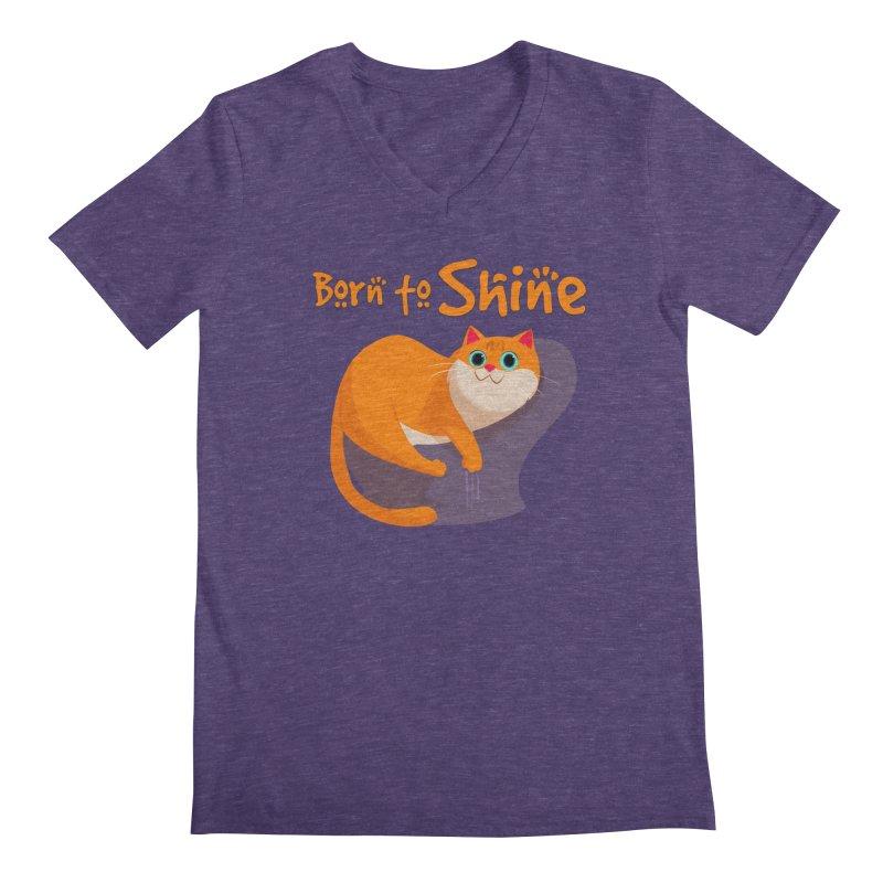 Born To Shine Men's V-Neck by Hosico's Artist Shop