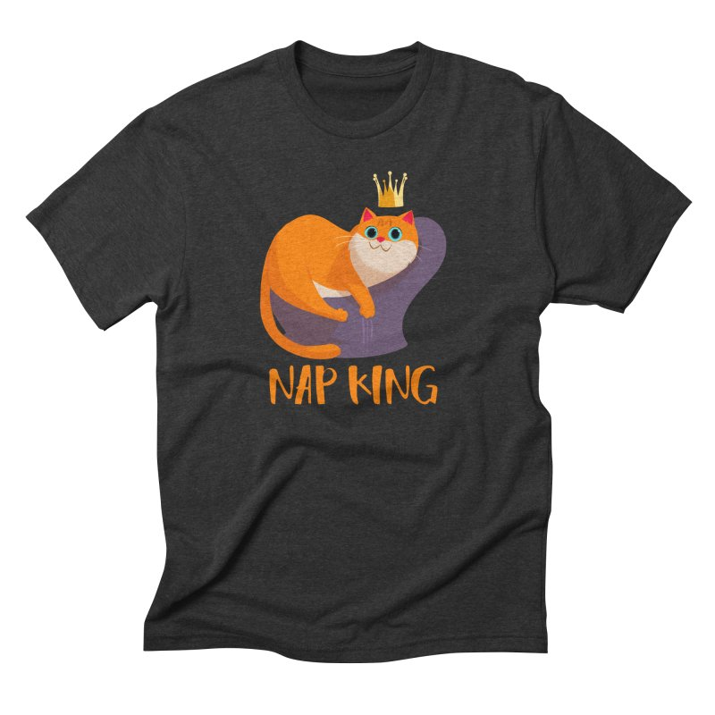 Nap King Men's Triblend T-shirt by Hosico's Artist Shop