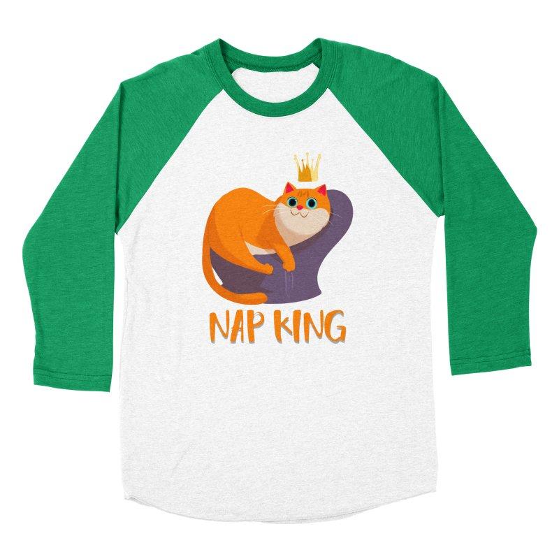 Nap King Women's Baseball Triblend T-Shirt by Hosico's Artist Shop