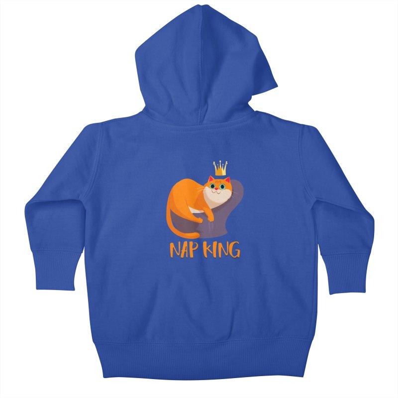 Nap King Kids Baby Zip-Up Hoody by Hosico's Artist Shop