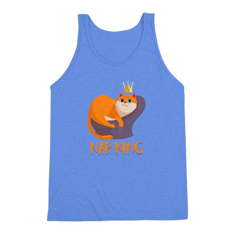 Nap King Men's Triblend Tank by Hosico's Artist Shop