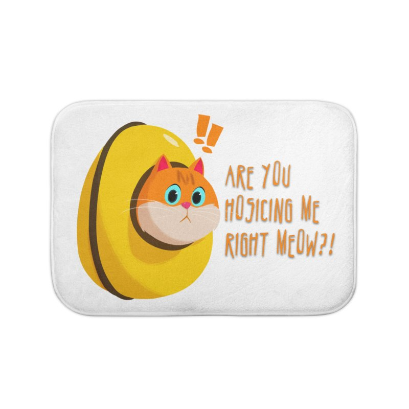 Are you Hosicing me right Meow?! Home Bath Mat by Hosico's Artist Shop