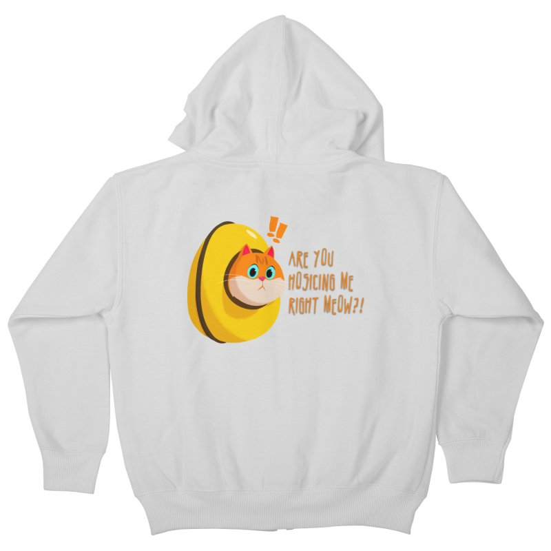 Are you Hosicing me right Meow?! Kids Zip-Up Hoody by Hosico's Artist Shop