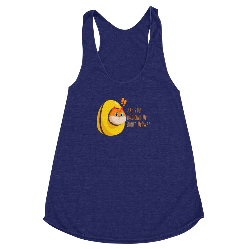 Are you Hosicing me right Meow?! Women's Racerback Triblend Tank by Hosico's Artist Shop