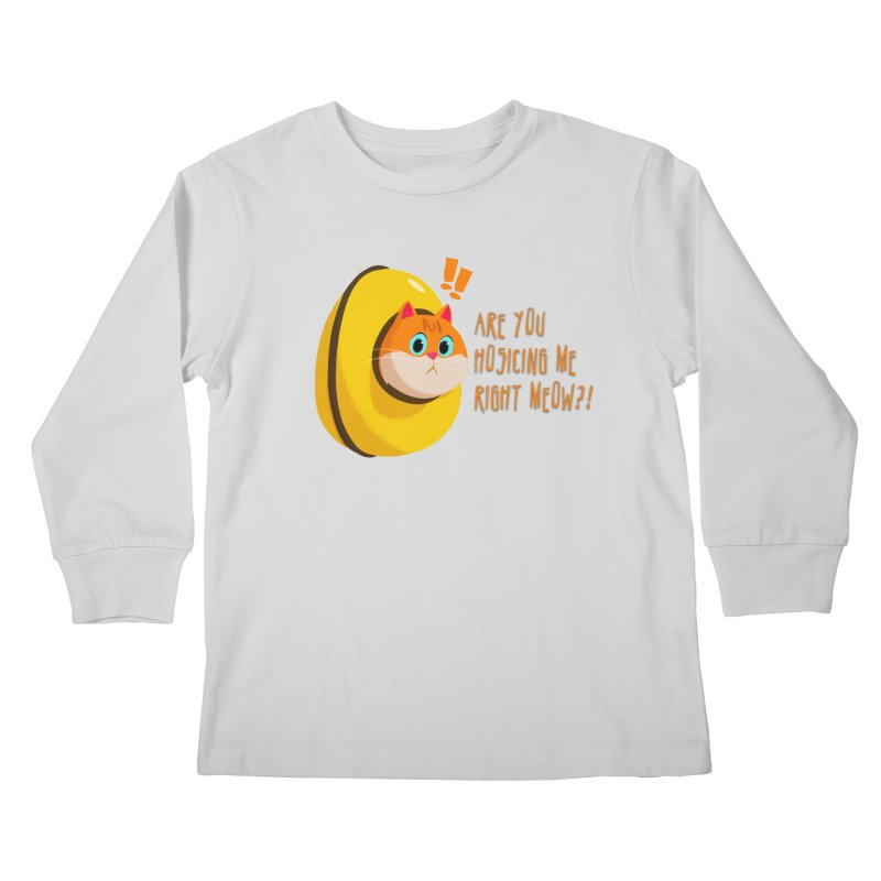 Are you Hosicing me right Meow?! Kids Longsleeve T-Shirt by Hosico's Artist Shop
