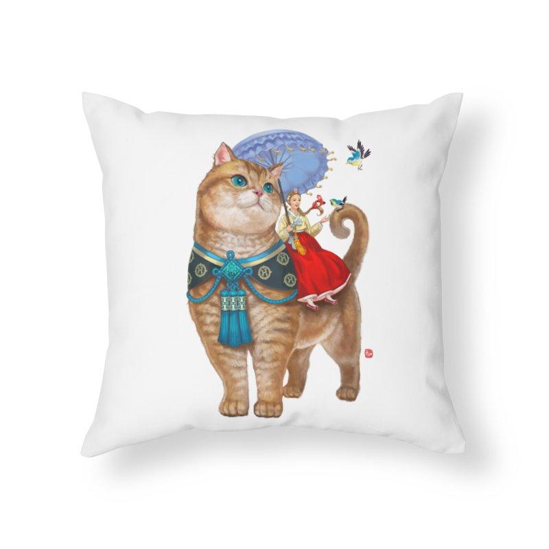 Hosico Hanbok Home Throw Pillow by Hosico's Shop