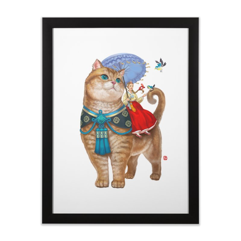 Hosico Hanbok Home Framed Fine Art Print by Hosico's Shop