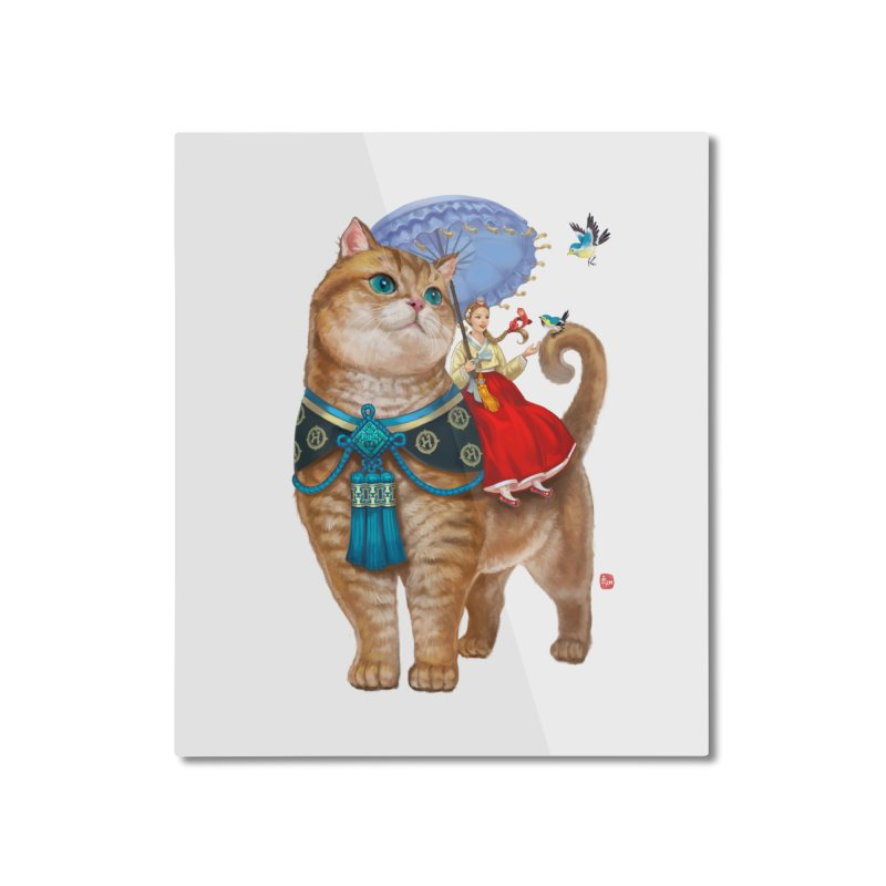 Hosico Hanbok Home Mounted Aluminum Print by Hosico's Shop