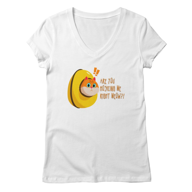 Are you Hosicing me right Meow?! Women's V-Neck by Hosico's Shop
