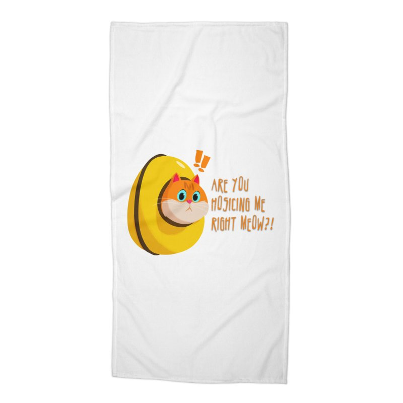 Are you Hosicing me right Meow?! Accessories Beach Towel by Hosico's Shop