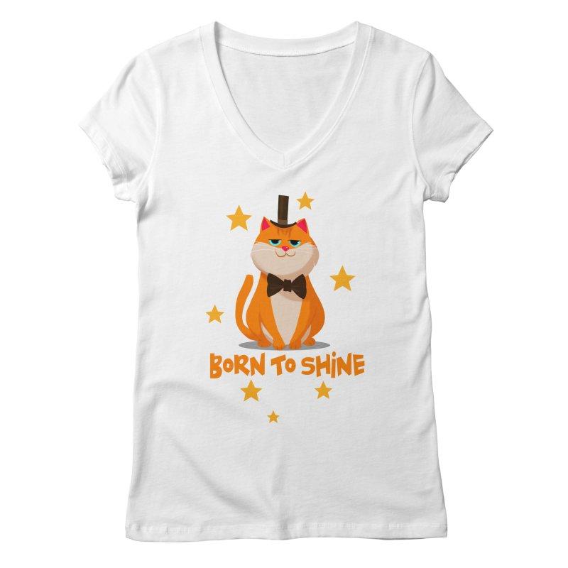 Born To Shine Women's V-Neck by Hosico's Shop