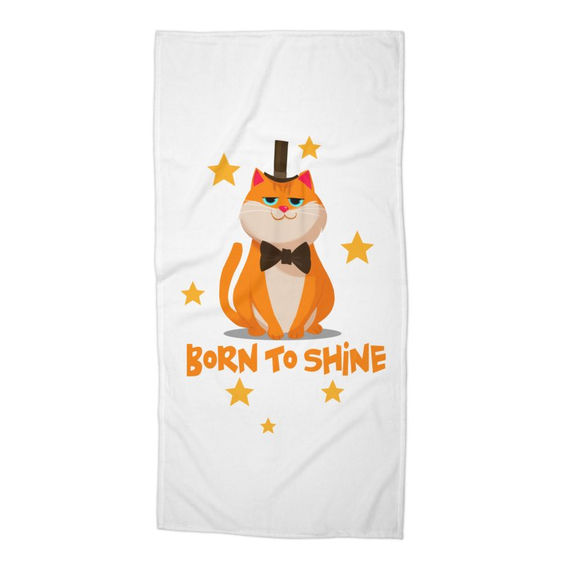 Born To Shine Accessories Beach Towel by Hosico's Shop