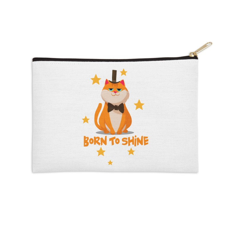 Born To Shine Accessories Zip Pouch by Hosico's Shop