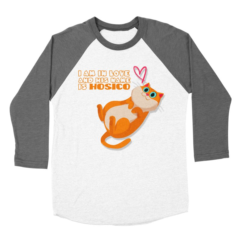 I am in love and his name is Hosico Women's Baseball Triblend Longsleeve T-Shirt by Hosico's Shop