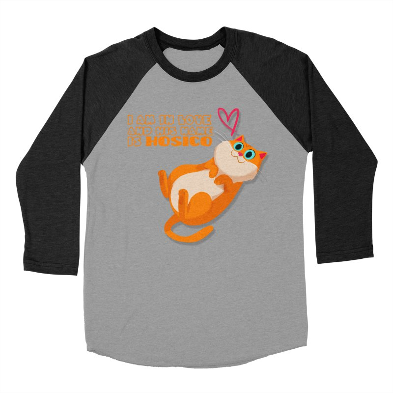 I am in love and his name is Hosico Women's Baseball Triblend T-Shirt by Hosico's Shop