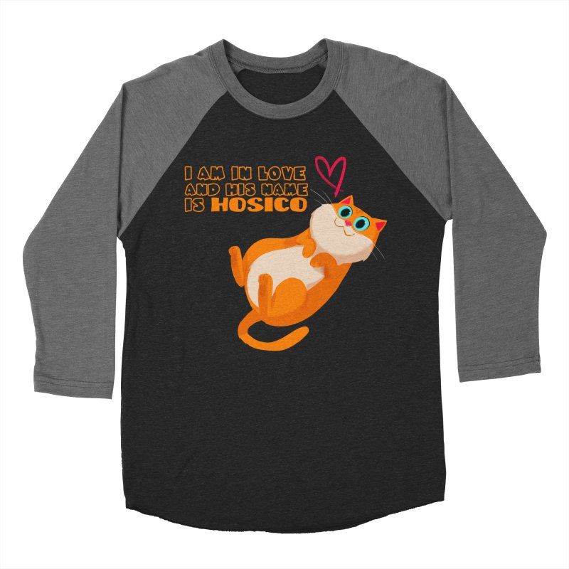 I am in love and his name is Hosico Men's Baseball Triblend Longsleeve T-Shirt by Hosico's Shop