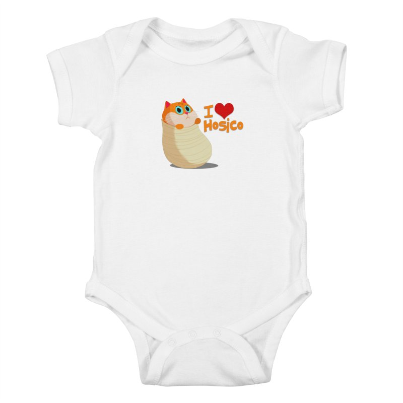 I Love Hosico Kids Baby Bodysuit by Hosico's Shop