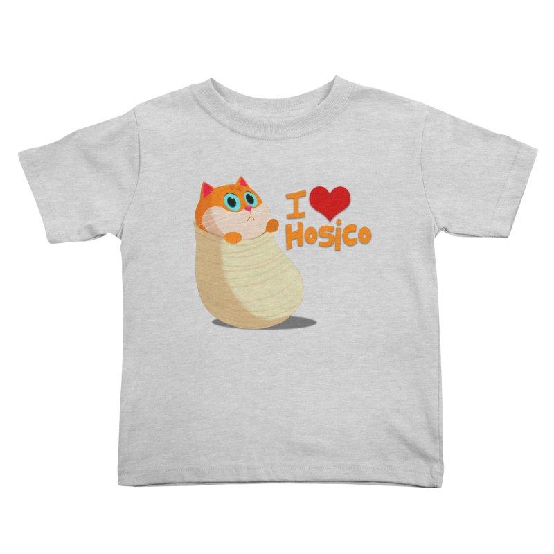 I Love Hosico Kids Toddler T-Shirt by Hosico's Shop