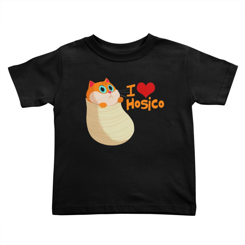I Love Hosico Kids Toddler T-Shirt by Hosico's Shop
