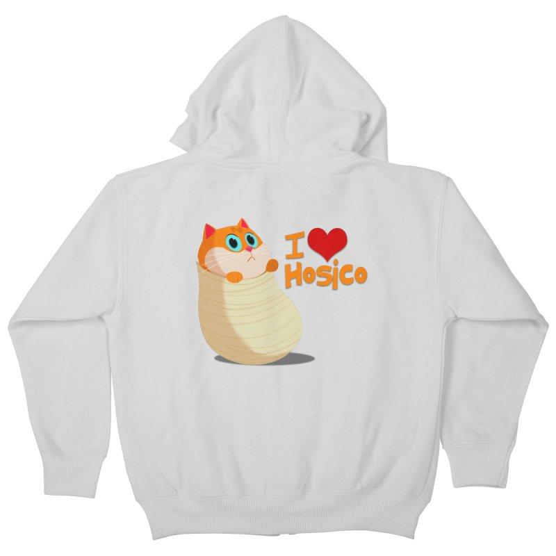 I Love Hosico Kids Zip-Up Hoody by Hosico's Shop